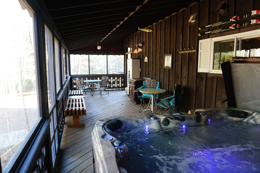 PIC OF SCREENED IN HOT TUB PRIVATE ROOM