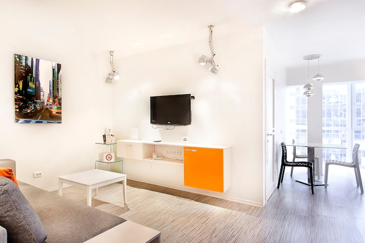 Fashion panoramic view one-bedroom apartment ID273