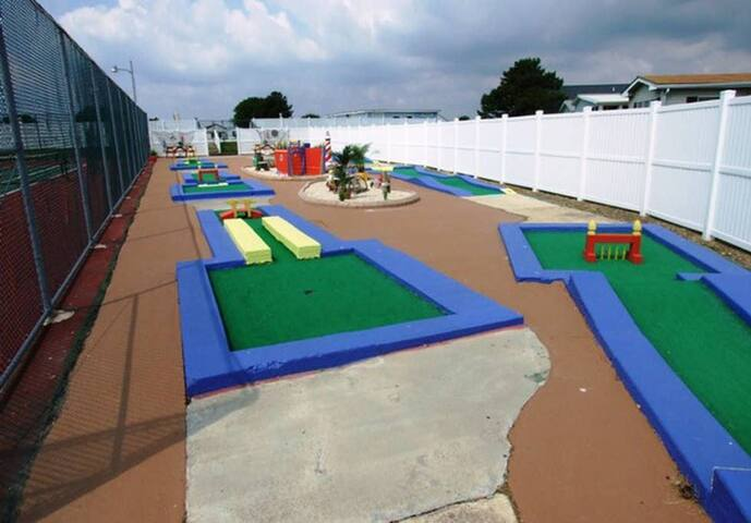We even have a free miniature golf course, so bring some clubs!