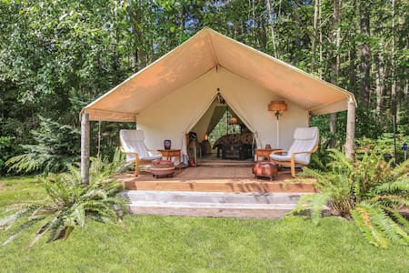 "Unique ""Glamping"" Wall Tent on Whidbey Island"
