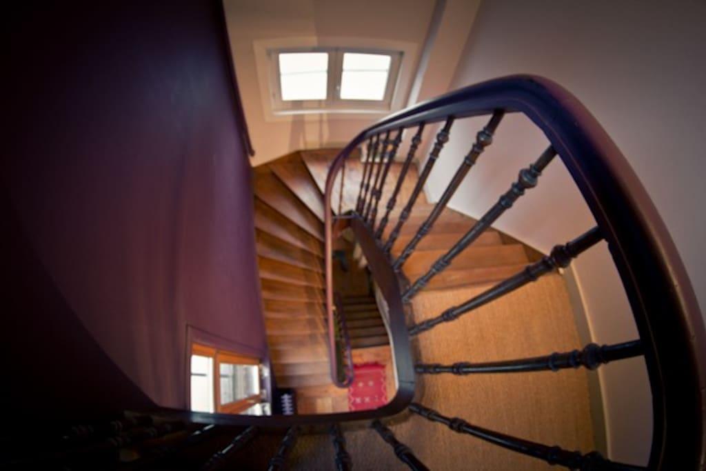 Escalier typique des années 1930