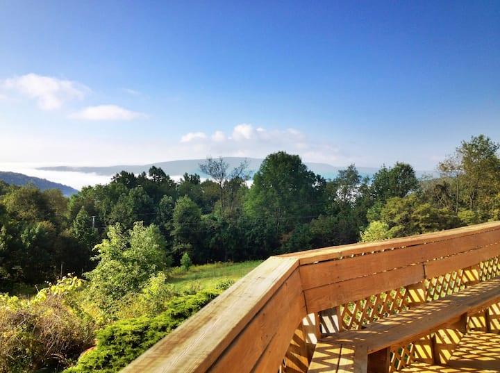 Ohiopyle's best views & 40 quiet acres!