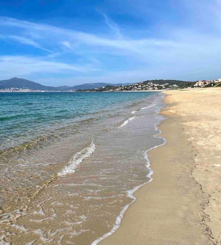 T2 Rez-de-jardin, 3 minutes à pieds de la plage.
