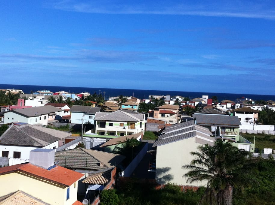 ocean view from 55m² roof deck