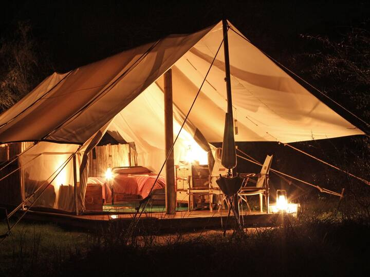 Twin Tent in Quatermain's 1920's Safari Camp