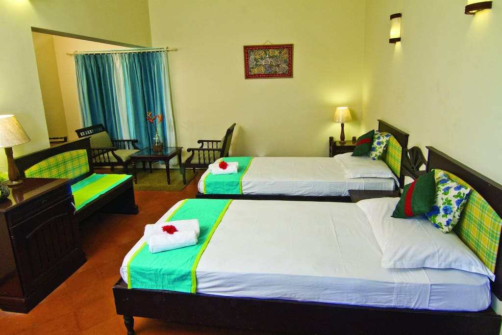 Non AC Room with Twin Beds on Ground Floor