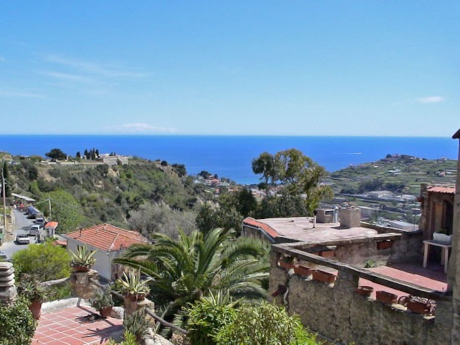 Terrace view (on clear days, the island of Corsica can be spotted on the horizon)