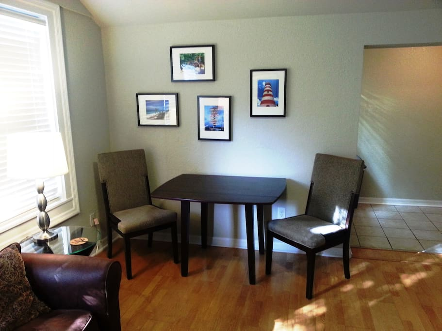 Living Room - expandable dining/work table