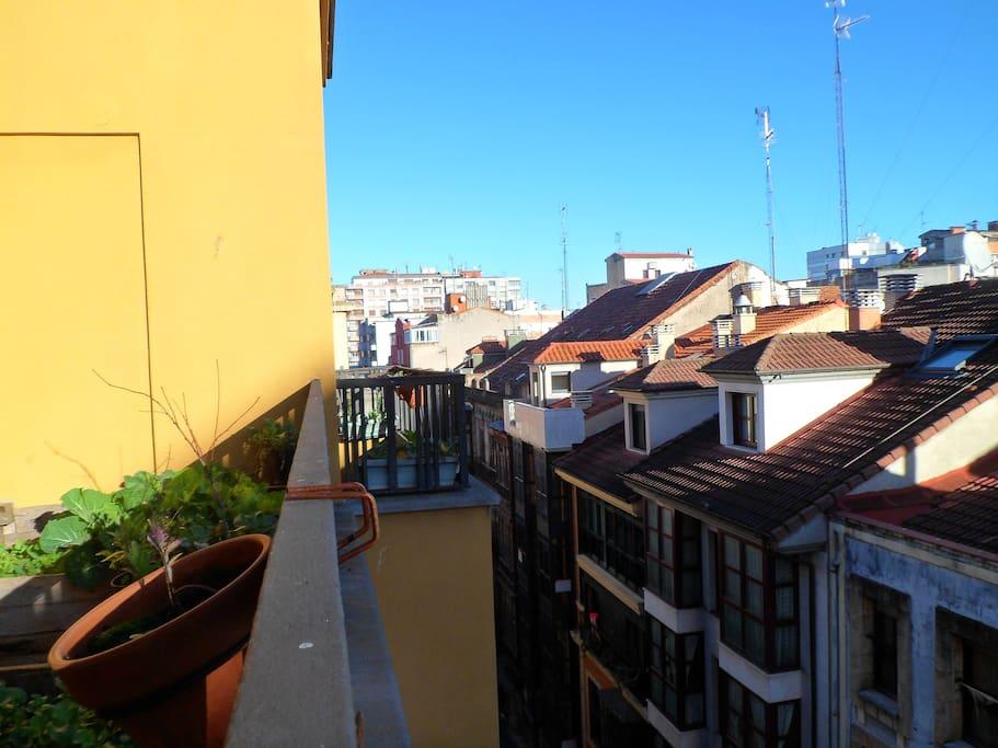 Vista desde la terraza a la Calle San Bernardo
