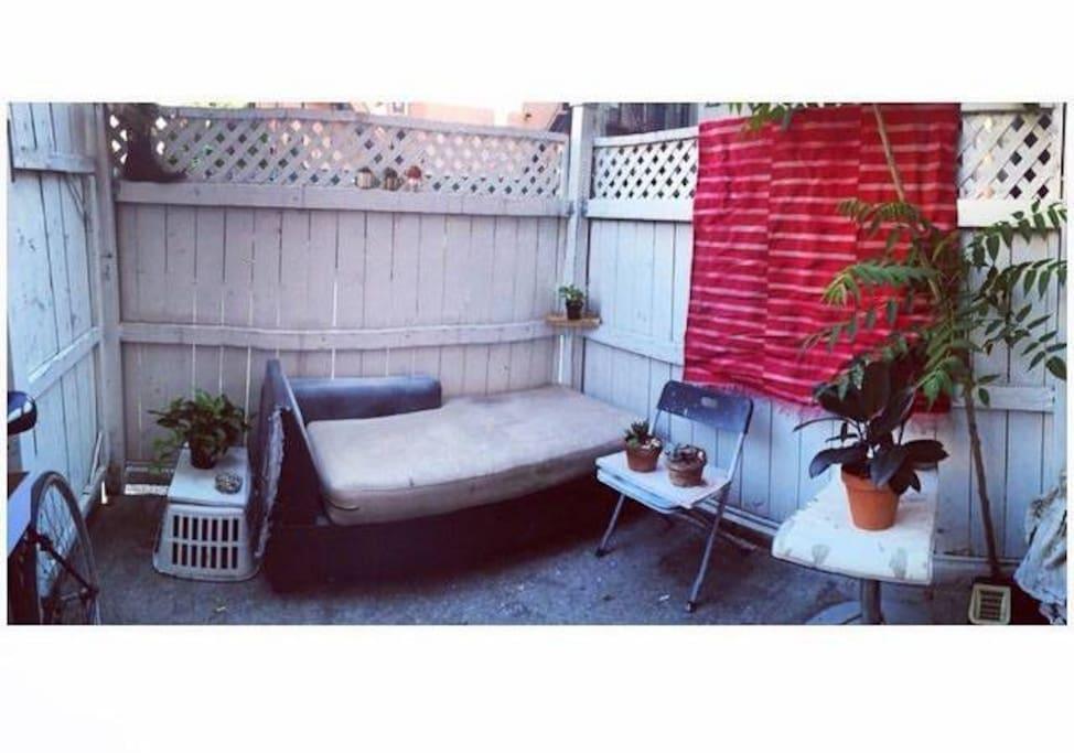 Out door patio space