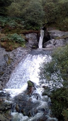 Waterfall at near by Hafren Forest