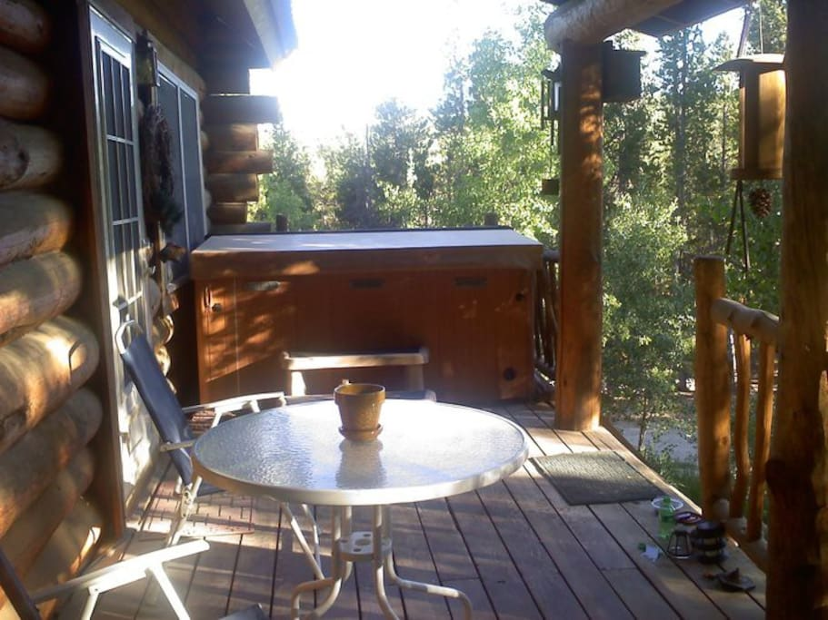 Beautiful Deck on secluded, quite mtn property