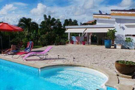 T1bis, piscine avec vue mer - Ducos