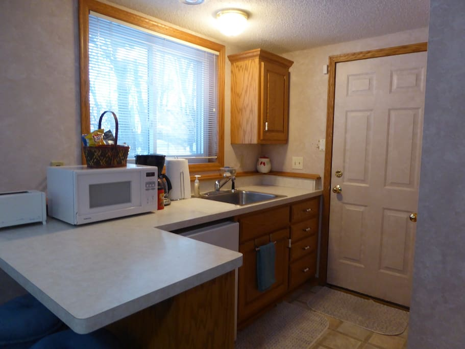 Refrigerator, Microwave, Toaster, Coffee Maker.  Electric Fry Pan and Toaster Oven also available.