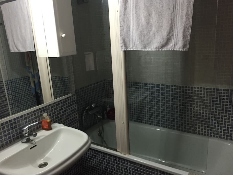 Baño completo con bañera de uso privado Large bathroom, private use