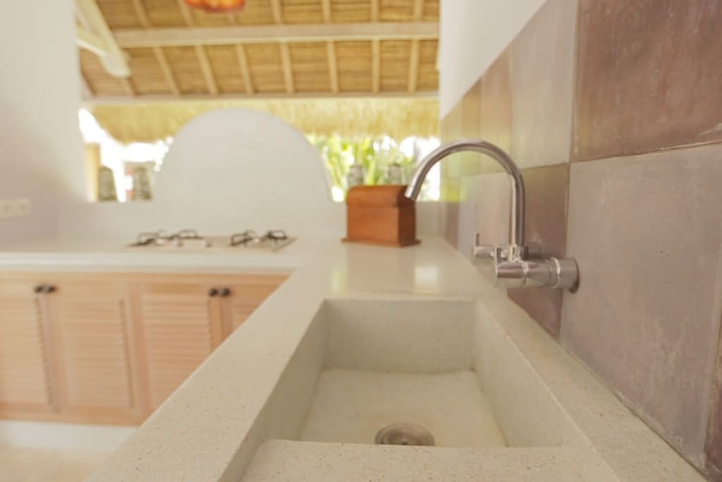Fully stocked kitchens in each villa.
