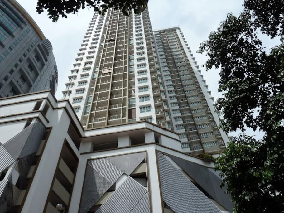 The apartments as you see it when you first arrive. Just 3 minutes walk from the nearest station