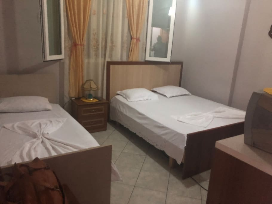 Main badroom with double and single bed