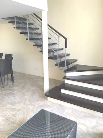 Stairs going to the bedroom