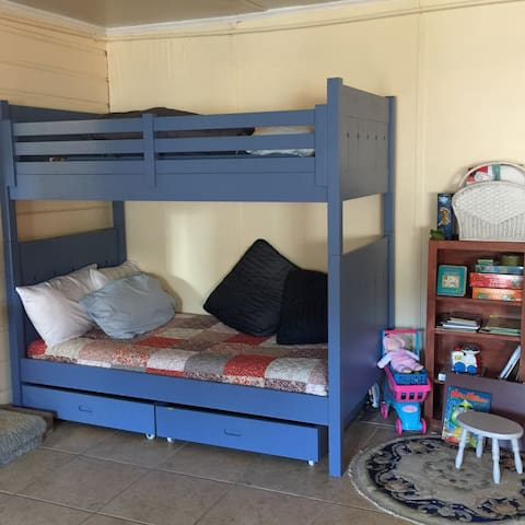 Great bunk beds in the big room