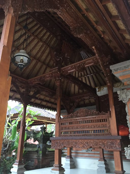 This traditional house with open air!!! Sleep good without AC or fan :)
