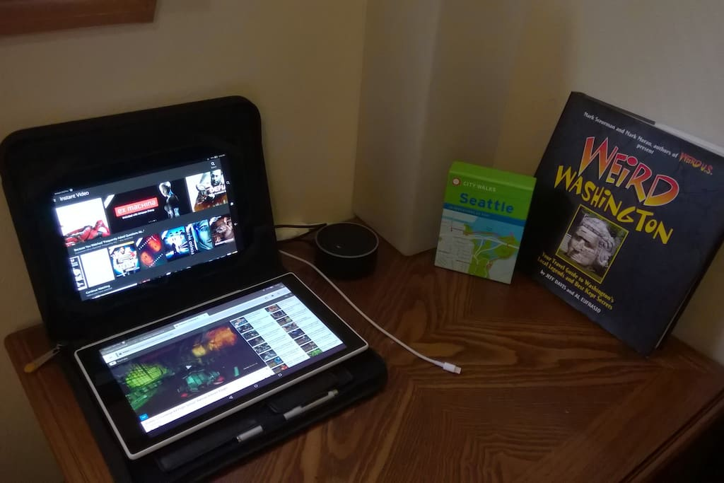 Kindle Fires for guests to use