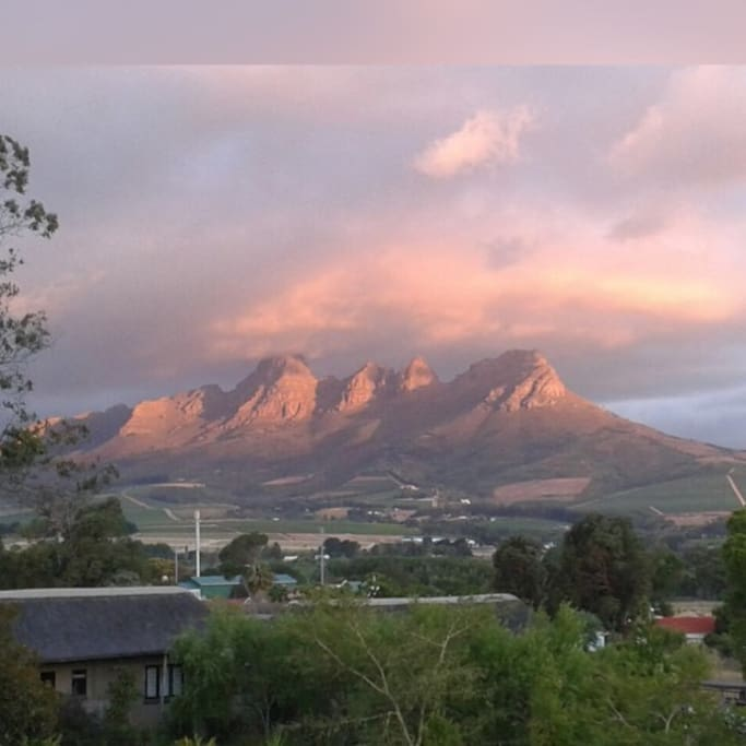 View of the Helderberg mountain