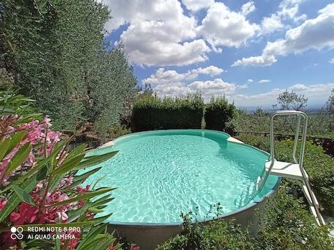 SLNEČNICA Apt vo vile,Panoramatický pohľad na Florenciu