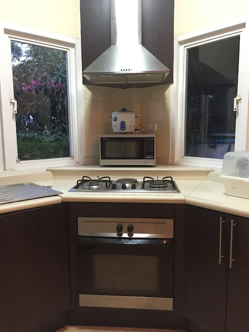 Fully fitted kitchen with utensils perfect for self catering holidays