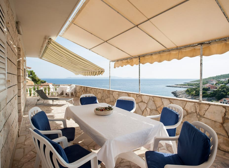 Big Terrace with a Magnificent view of Lastovo island.