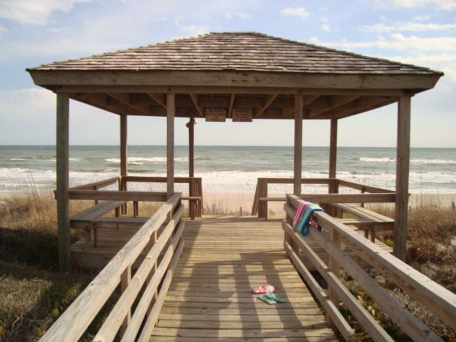 Our Gazebo Entrance is your gateway to the Beach!