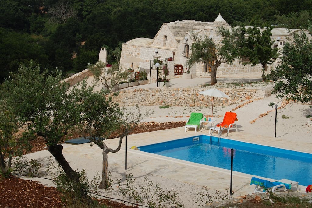 The Trulli + pool