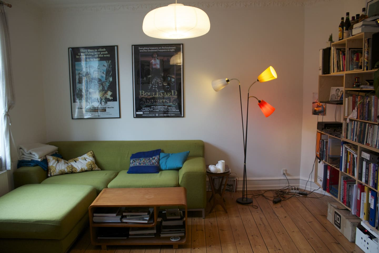 The cosy livingroom
