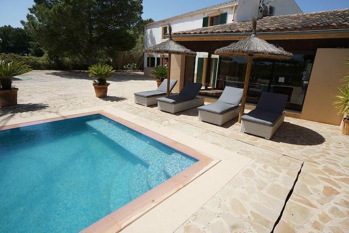 Finca villa Es moli piscina cerca playa Es Trenc