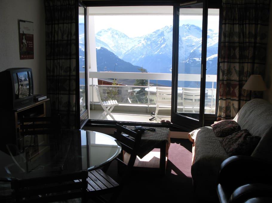 séjour, vue balcon