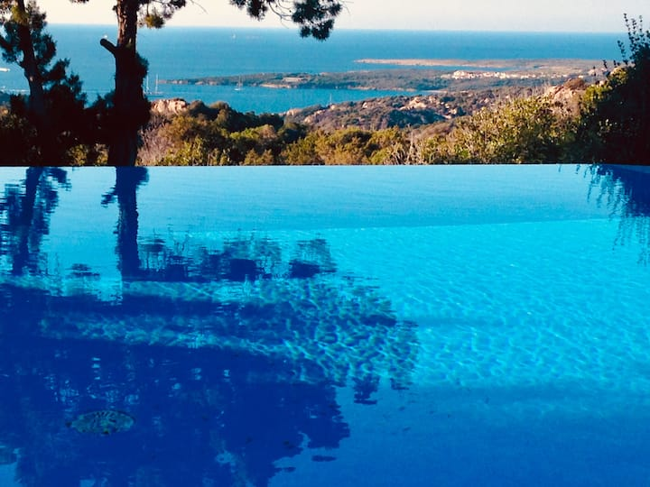 Villa  over Costa Smeralda sea , full nature relax