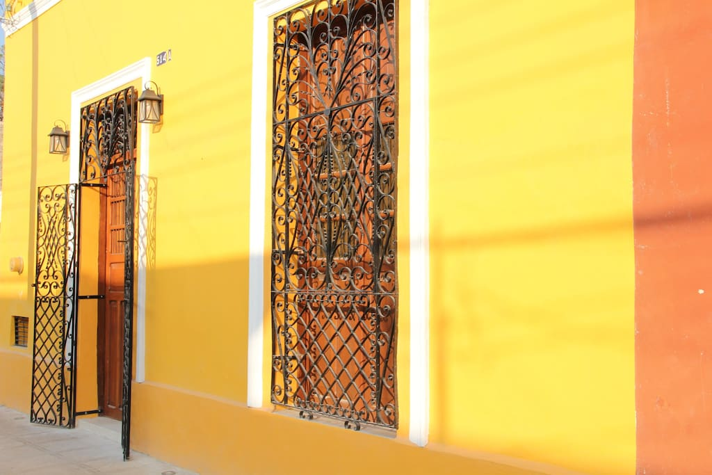 Handmade wrought iron adds beautiful period detail to the front of Casa Paradiso.