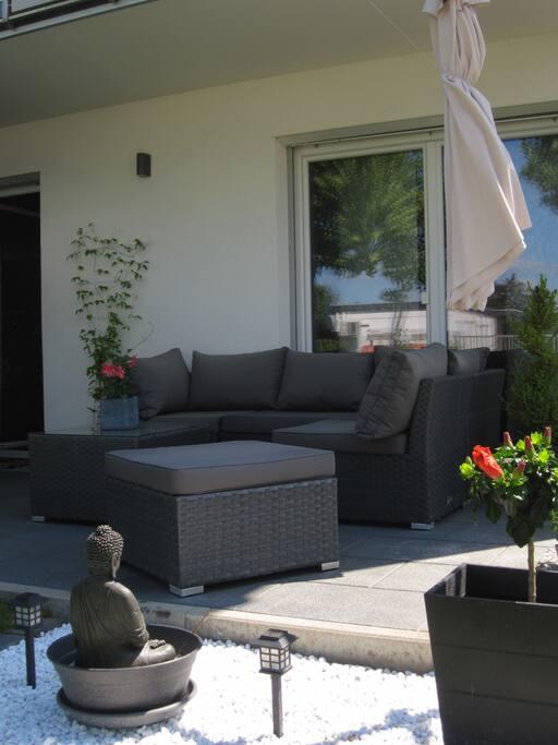 Gemütlicher Lounge-Bereich