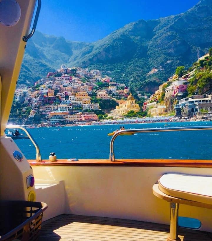 Night on board in Positano with amazing breakfast