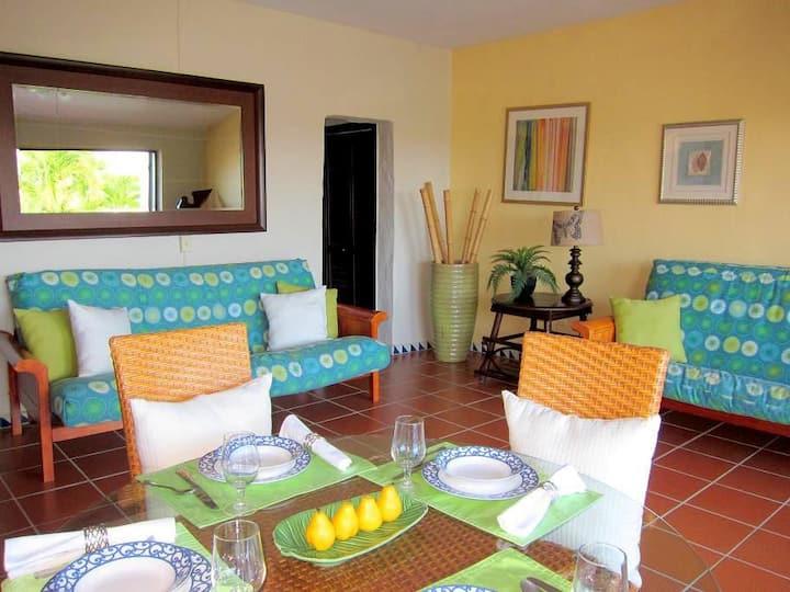 Villa inside Wyndham Rio Mar Resort near waterfall
