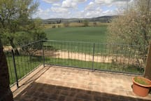 the view from the terrace/vista dal terrazzo