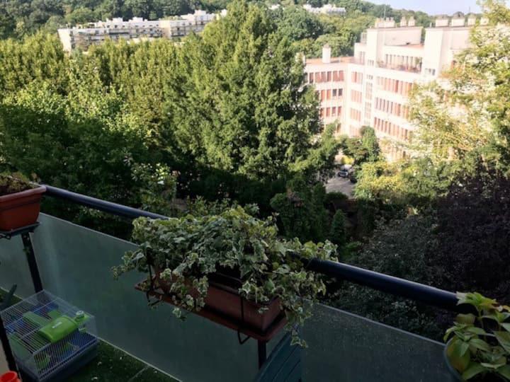 Chambre privative, dans un 110 m2, vue Paris