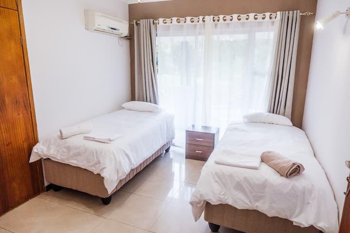 Private Bedroom in Marneweck Retreat Rustic Villa