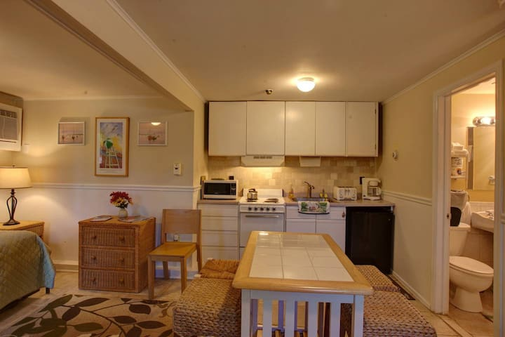 Suite kitchenette, view from entrance