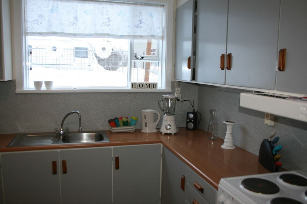 Our guests use this kitchen together :)