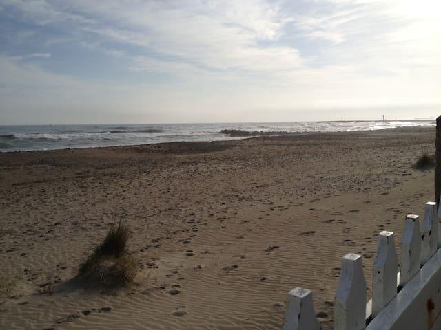 Eté, printemps ou hiver, la plage est chaque jour différente...