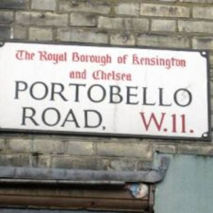The famous Portobello market is just around the corner