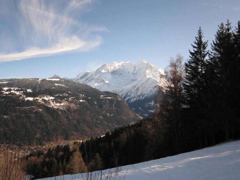 Vue du Mont-Blanc depuis le chalet