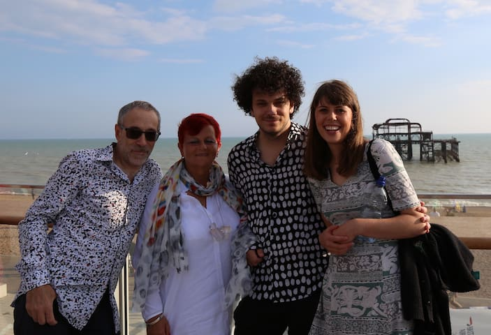 Our family on the seafront