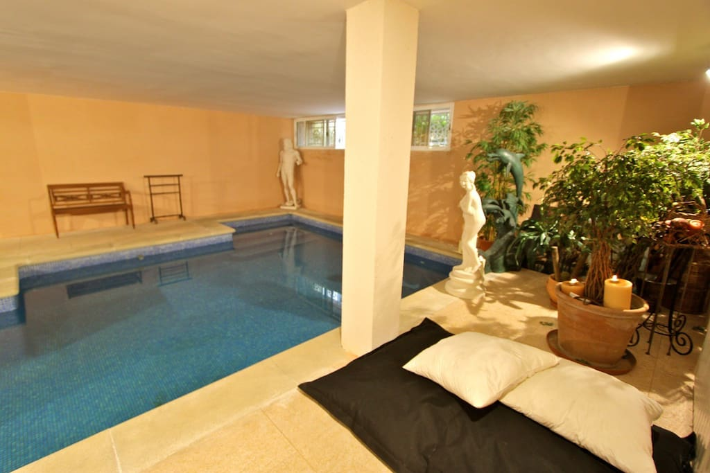 heatable indoor pool